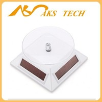 White Rotating Solar Display Stand Platform