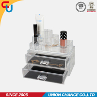 2015 wholesale fashion 2 drawer acrylic makeup organizer