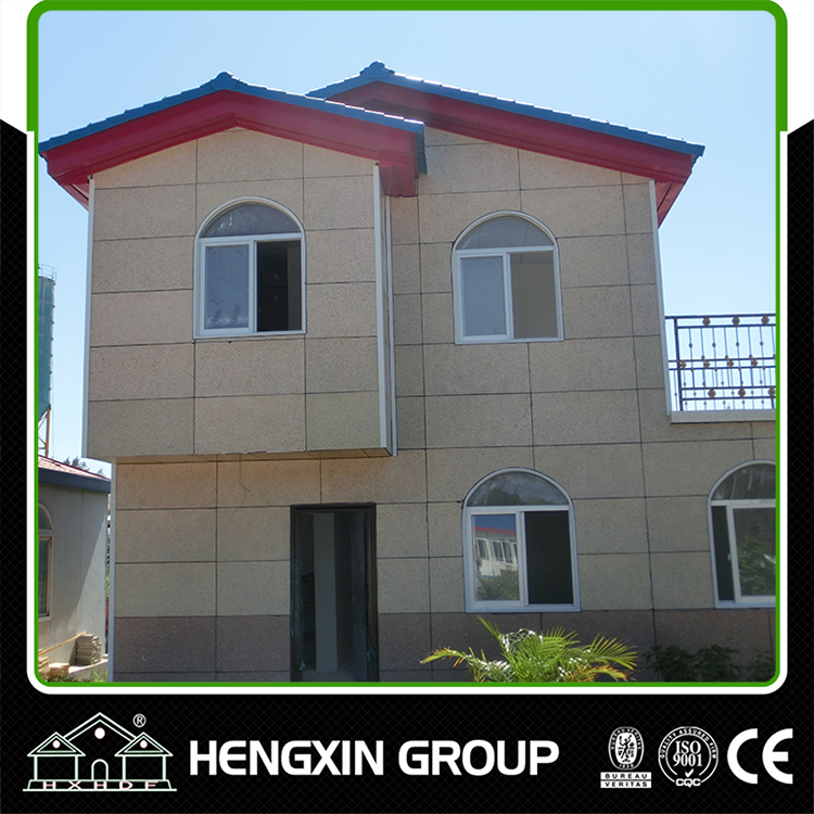 Hengxin Modular luxury light steel frame villa prefabricated homes with furnishing