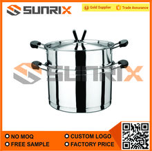 Double Handle Stainless Steel Steaming Pot