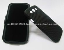 Black Hard Cover Skin for Samsuny Galaxy S2 i9300 With Stand Holder (Black)