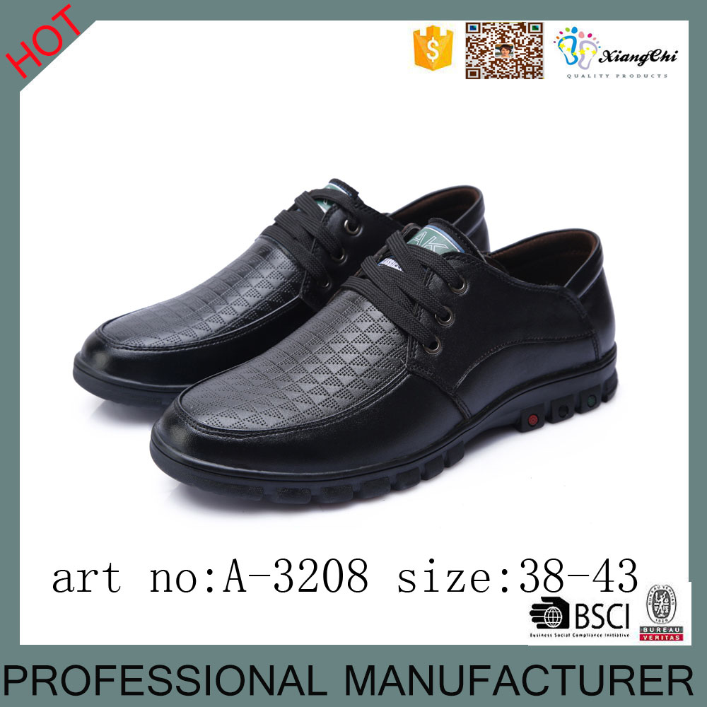 Display Design Micro Fiber PU Material Class Dress Casual Shoes For Man