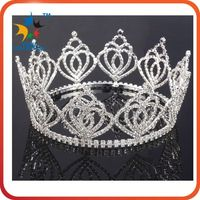 Wholesale Holiday Rhinestone Christmas Pageant Crowns