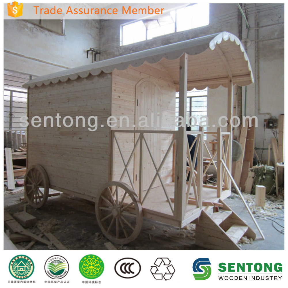 2016 Kids Outdoor Cheap Wooden Playhouse like Carriage
