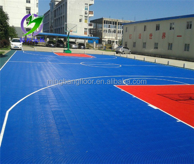 interlocking removable floor PP Interlocking Outdoor Flooring basketball interlocking plastic pp floor tiles factory price