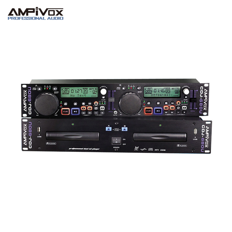 High performance dj cd player with usb connection output