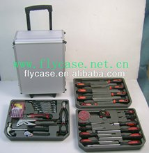2013-2014 aluminum tool case ,black tool case with tool plate and foam ,aluminum storage case