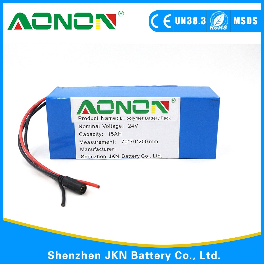 Customized size of Lithium ion 18650 Battery Pack with BMS 24V 15AH for Wheelchair