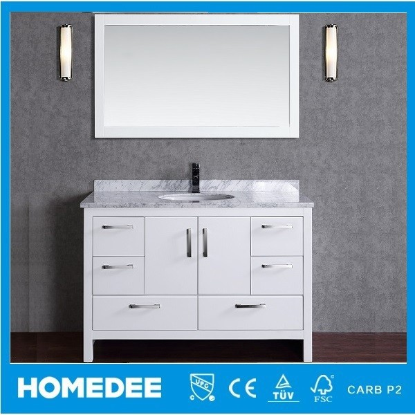 Homedee Solid Wood Bathroom Mirror Cabinet with Light