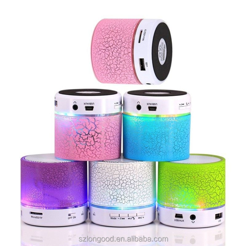 Best Small Laptop Mobile Wireless Rechargeable Portable Led Bluetooth Speakers With Led Light