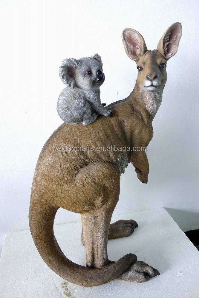 Decorative Resin kangaroo Toy With koala , koala baby and kangaroo for gift