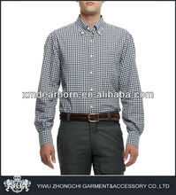 button down gingham check body fit shirts