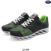 Spring breathable cheap blade brand names running shoes for men
