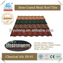 color stone coated roof /sun stone coated metal roof tile
