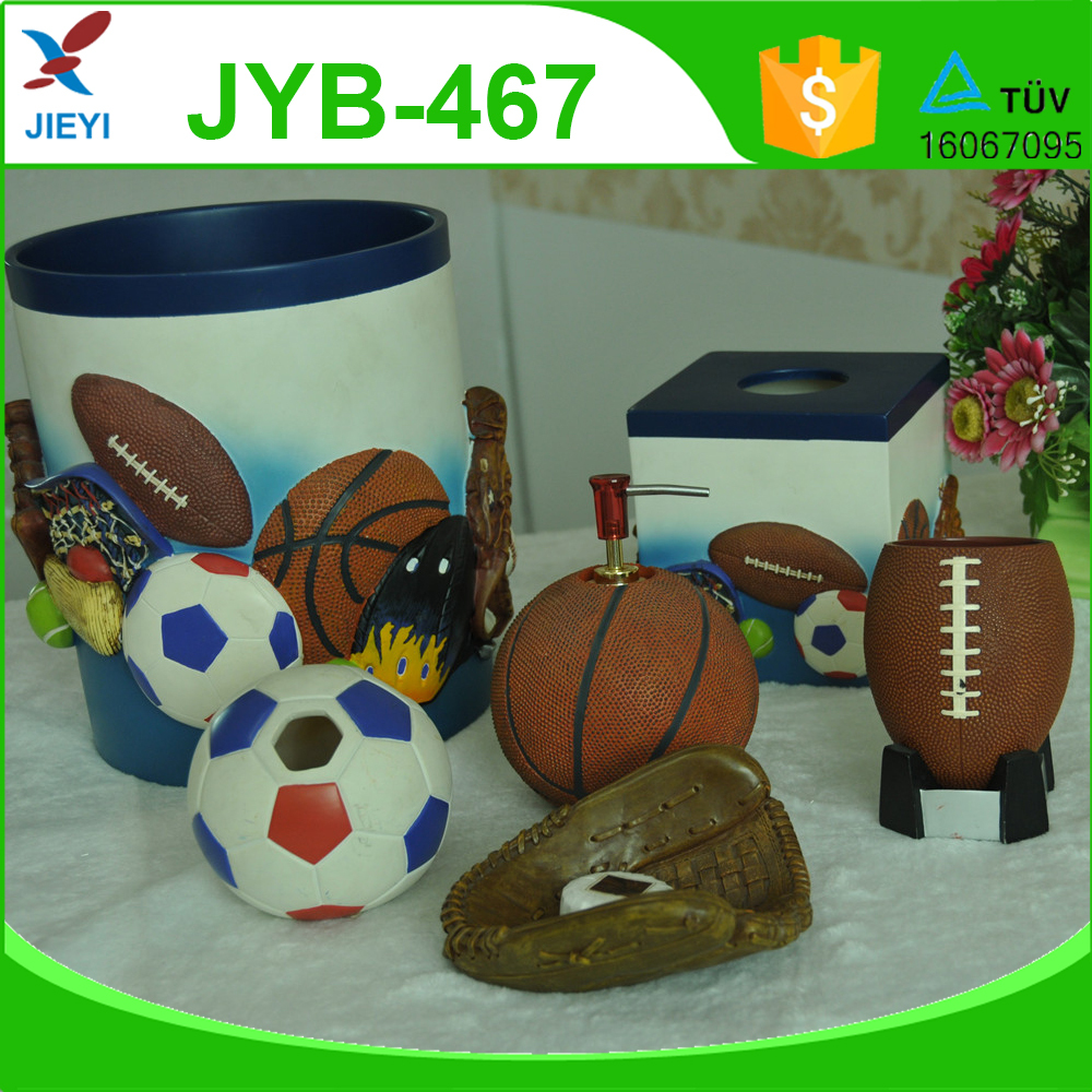 Handicrafts polyresin bathroom set,bathroom accessories for kids