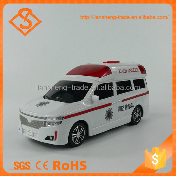 Intelligent durable plastic mini ambulance car toys for kids