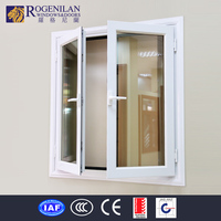 Rogenilan double layer glass casement window plastic transparent window