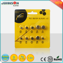 Lr44 Ag13 Alkaline Button Cell Watch Battery