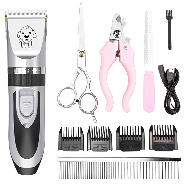 Low Noise Rechargeable and Plug in Dog hair trimmer for thick hair