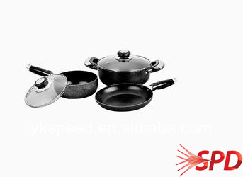 ceramic coating aluminum cookware set large stainless steel cookware sets diamond non-stick coating