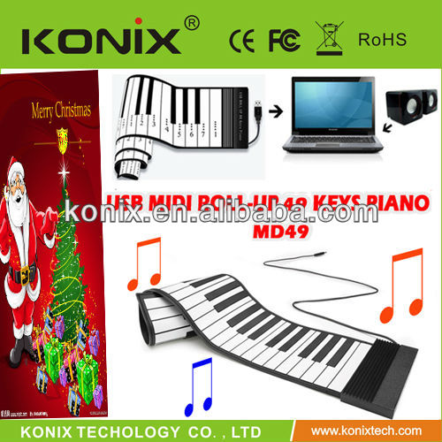 usb roll up piano with midi out (MD49)