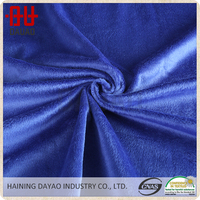 Sapphire blue solid color micro velboa fabric for bedding and blanket