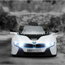 Most popular licensed BMWI8 fashion toys toy car for girls ride on kids electric