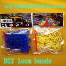2015 wholesale DIY gifts set for kids rubber band bracelet silly rubber bands crazy loom bands kit packing in bags