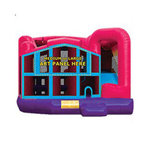 Hot sale Module 5 In 1 inflatable bouncer slide combo bounce house, inflatable jumper with slide