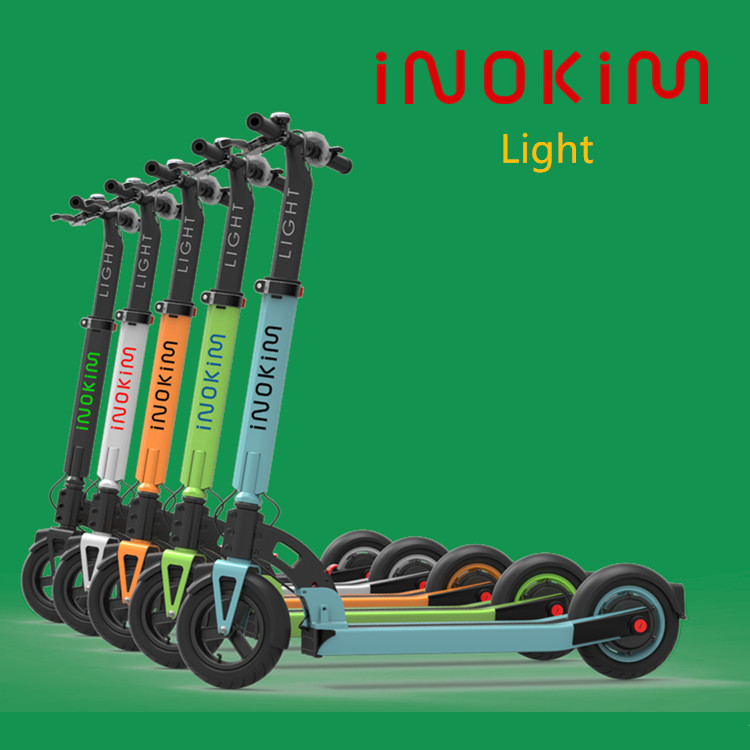 Screamline design from INOKIM/MYWAY new scooter electrico with smart LED lights