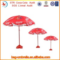 Promotional Custom Printed Manual Open Advertising Parasol Outdoor Beach Umbrella Full Sizes for Option