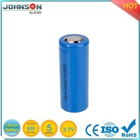 high quality 3.7v rechargeable battery,26650 battery, lifepo4 a123 anr26650