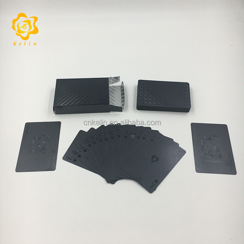 waterproof durable plastic black color mosaic playing <strong>cards</strong> for business collection
