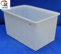 Durable plastic fish tubs for seafood