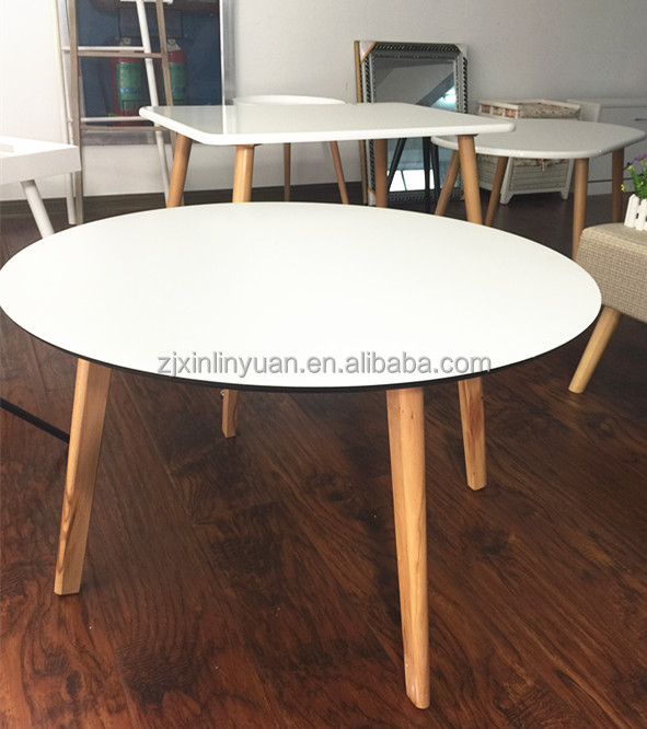 European Style wooden tea table design acrylic coffee table for home living