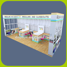 Custom portable modular trade show exhibition display booth design with graphics
