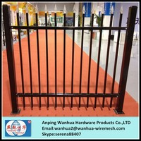 Anping black powder coated modular metal fence