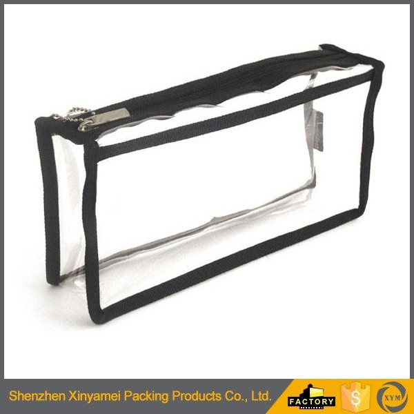 customized clear pvc mini cosmetic bag ziplock pvc packaging bag/ziplock Clear pvc cosmetic bag with hand /pvc hand bag