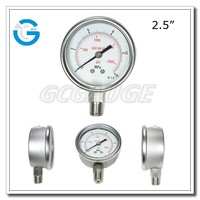 High quality bourdon tube bottom 30 atm water manometer