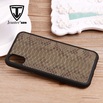 For Iphone X Real Python Snakeskin Cell Mobile Phone Case Phone Cover Wholesales