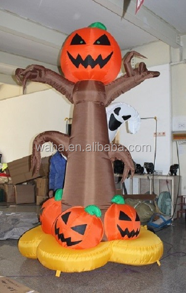 13ft Horriable halloween tree,horriable inflatable pumkin tree W89