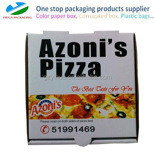 Wholesale cheap corrugated cardboard pizza boxes from guangzhou box manufacturer