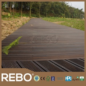 Hot sale outdoor bamboo flooring heat treatment