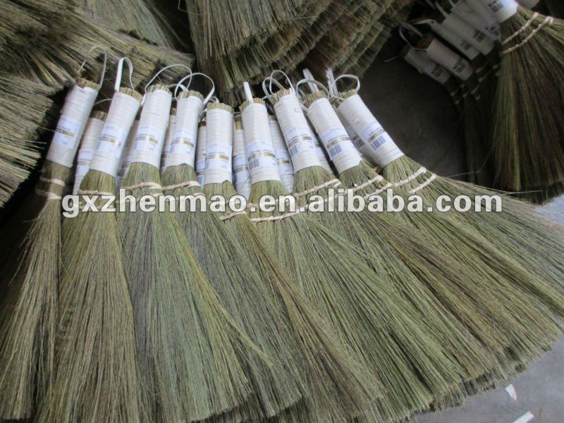 Natural silver grass broom