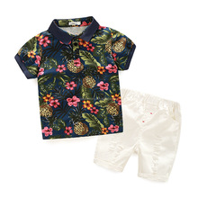 Hot selling summer 2pc baby boy clothes set