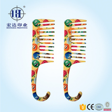 Cartoon heat transfer film for comb