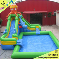 Giant inflatable commercial water pool slide park,fiberglass water park slides for sale