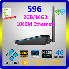 Cable Set Top Box Price 1000M Ethernet Built-in Wifi Marshmallow Tv Box Android 6.0 S96