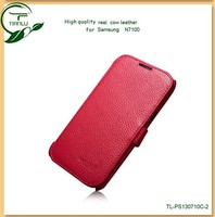 2013 trendy leather flip case for samsung galaxy note 2 cute case for samsung n7100