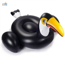 Giant commercial Inflatable toucan pool Floating Water Park Island